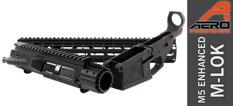 "Aero Precision M5E1 Enhanced .308 Builder Set w/ Gen 2 15"" M-LOK Handguard - Black - FREE SHIPPING"