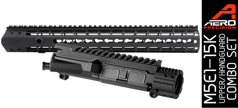 "Aero Precision M5E1 Enhanced .308 Upper Receiver / Gen 2 15"" Keymod Handguard Combo - Black"