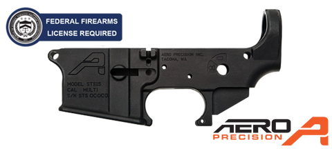 Aero Precision STS GEN II Stripped AR-15 Lower Receiver - Anodized Black
