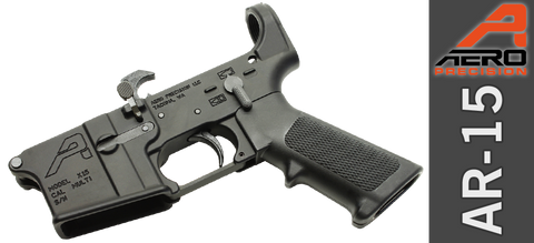 Aero Precision X15 Stripped AR-15 Lower Receiver, GEN II with Lower Parts Installed