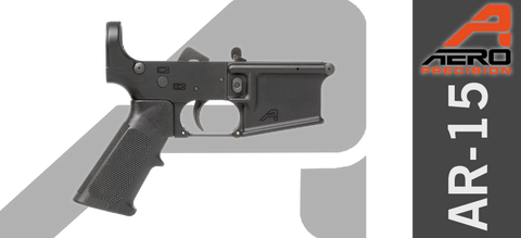 Aero Precision X15 Stripped AR-15 Lower Receiver, GEN II with Lower Parts Installed - W/O Buffer Extension & Stock
