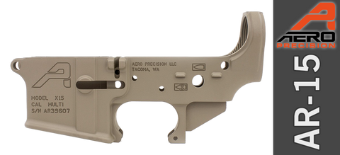 Aero Precision X15 Stripped AR-15 Lower Receiver, Gen II - FDE