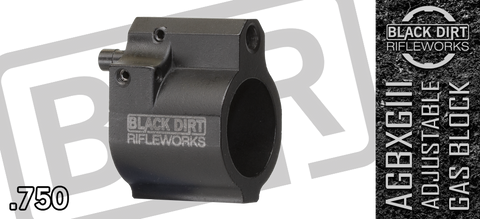 Black Dirt Rifleworks AGBXGIII Adjustable Gas Block - .750