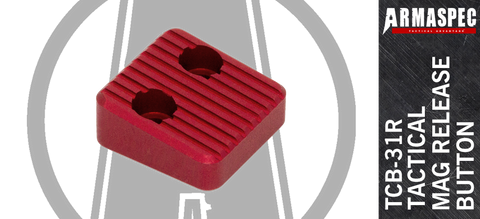 Armaspec TCB-31 Extended Magazine Release Button - Red