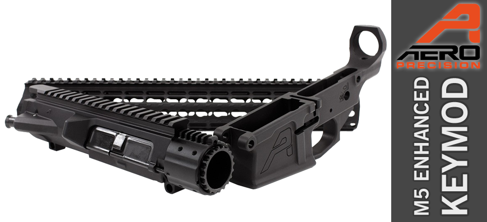 "Aero Precision M5E1 Enhanced .308 Builder Set w/ Gen 2 12"" Keymod Handguard - Black"