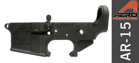 Aero Precision Stripped Ambi AR-15 Lower Receiver - Anodized Black