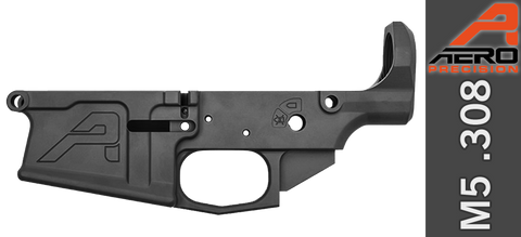 Aero Precision M5 Stripped AR .308 Lower Receiver - Gen 2 - Anodized Black