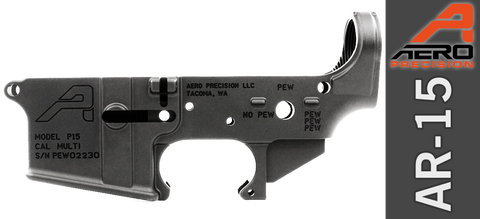 Aero Precision AR-15 Stripped Lower Receiver - Special Edition: PEW PEW PEW