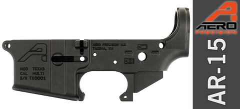 Aero Precision AR-15 Stripped Lower Receiver - TEXAS Special Edition