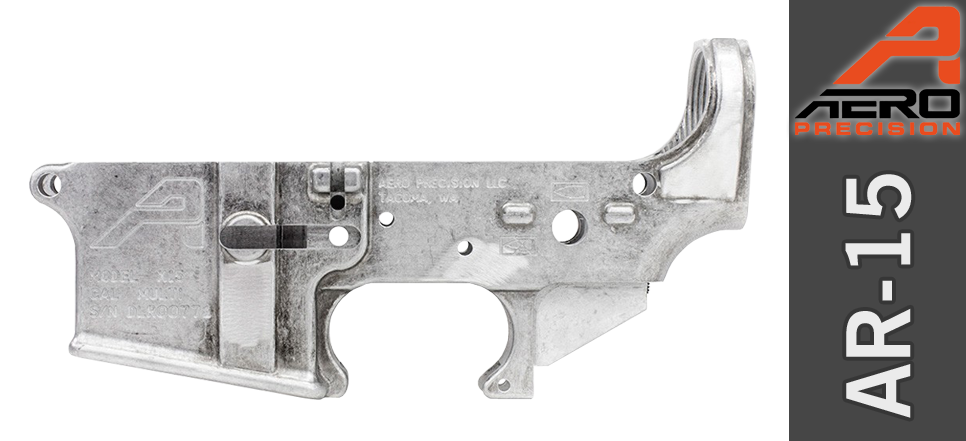 Aero Precision AR15 Stripped Lower Receiver - Uncoated