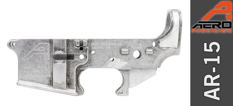 Aero Precision Stripped AR-15 Lower Receiver, Gen 2 - No Anodize