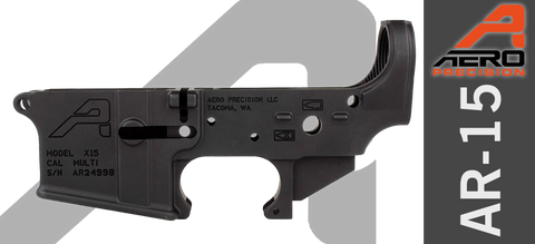 Aero Precision X15 Stripped AR-15 Lower Receiver, GEN II