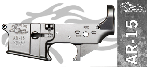 Anderson Manufacturing Stripped AR-15 Lower Receiver - No Anodize - In The White