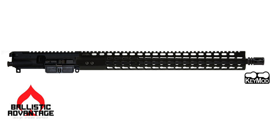 "16"" Ballistic Advantage 300 Blackout Complete AR15 Upper Receiver with 15"" UTG-PRO Super Slim Keymod Free-Float Handguard"
