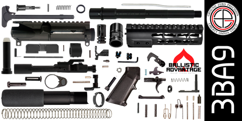 "DIY 9"" Ballistic Advantage 300 Blackout AR-15 Pistol Project Kit with TAC-HUNTER KEYMOD Free-Float Handguard (3BA9)"