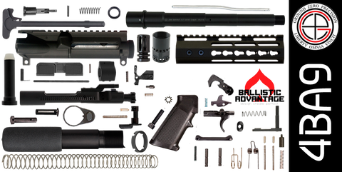 "DIY 9"" Ballistic Advantage 300 Blackout AR-15 Pistol Project Kit with Super-Slim KEYMOD Free-Float Handguard (4BA9)"