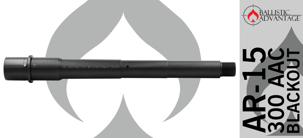 "Ballistic Advantage 9"" 300 Blackout AR15 Pistol Barrel"