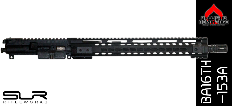 "16"" Free Floated Ballistic Advantage 300 Blackout Complete AR-15 Keymod Upper Receiver With SLR Adjustable Gas"