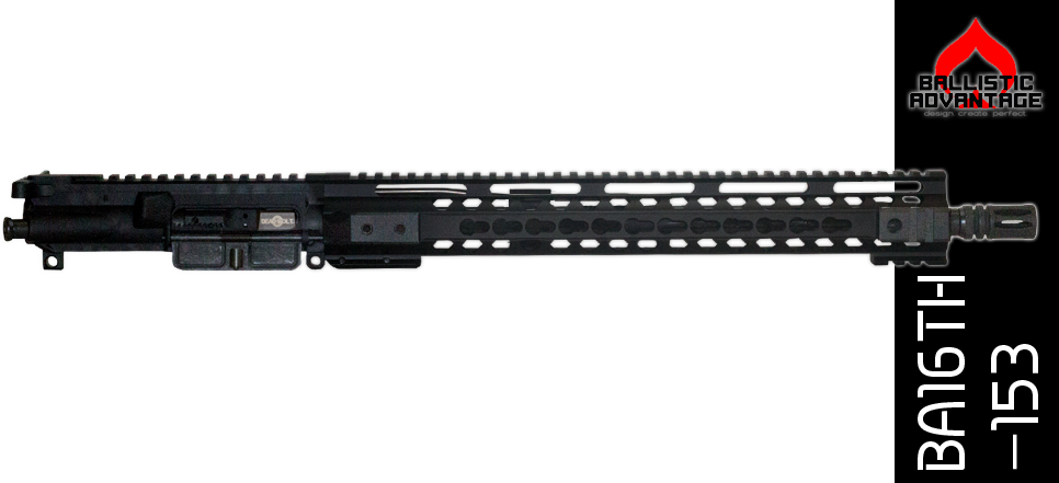 "16"" Free Floated Ballistic Advantage 300 Blackout Complete AR-15 Keymod Upper Receiver"
