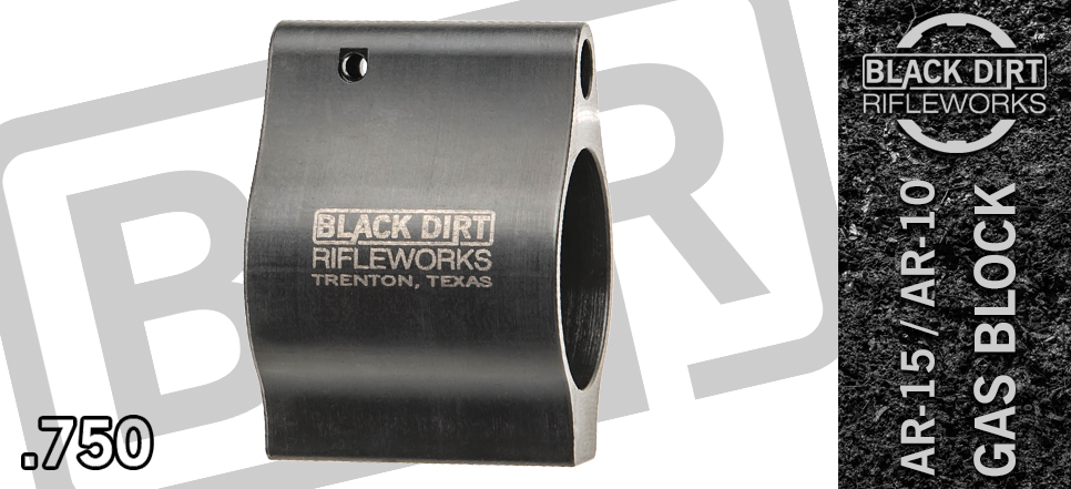 Black Dirt Rifleworks Super Performance .750 Slim Low Profile Gas Block