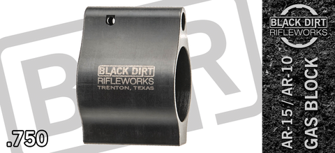 Black Dirt Rifleworks Super Performance Series Ultra-Low Profile Gas Block - .750