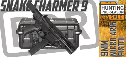 FLASH SALE - SNAKE CHARMER MICRO 9MM AR15 PISTOL - 3 AVAILABLE