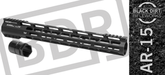 "Black Dirt Rifleworks 15"" M-Lok AR 15 Free Float Handguard"