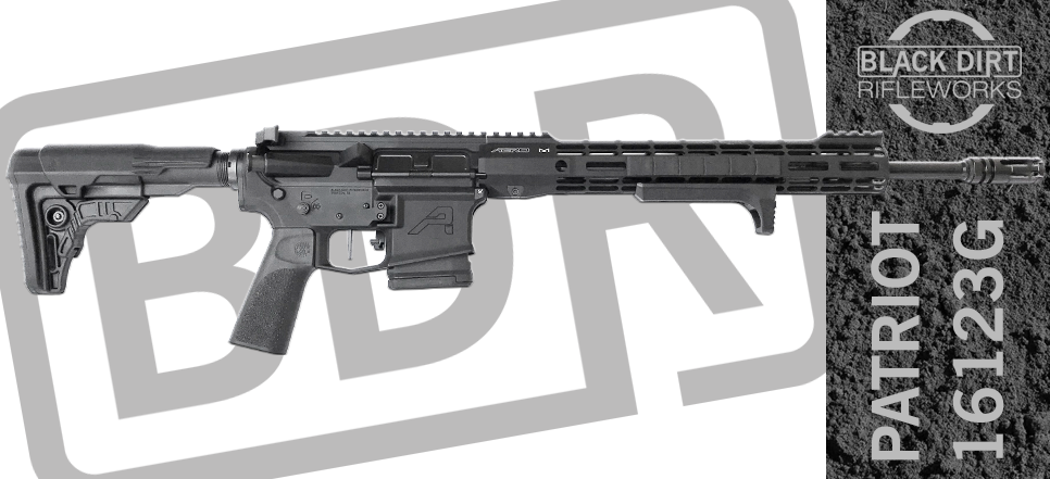 Black Dirt Rifleworks Ultra-Light 3-Gun Competition AR15 Rifle