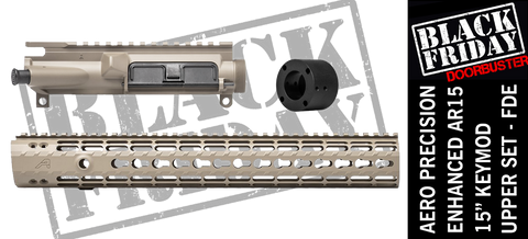 "Aero Precision Upper Receiver/Enhanced 15"" Keymod Handguard Combo -  FDE"