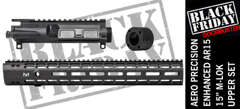 "Aero Precision Upper Receiver/Enhanced 15"" M-Lok Handguard Combo -  BLK"