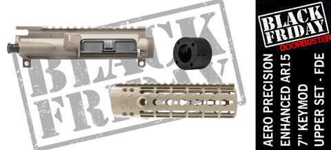 "Aero Precision Upper Receiver/Enhanced 7"" Keymod Handguard Combo -  FDE"