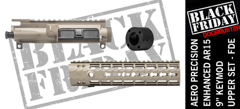 "Aero Precision Upper Receiver/Enhanced 9"" Keymod Handguard Combo -  FDE"