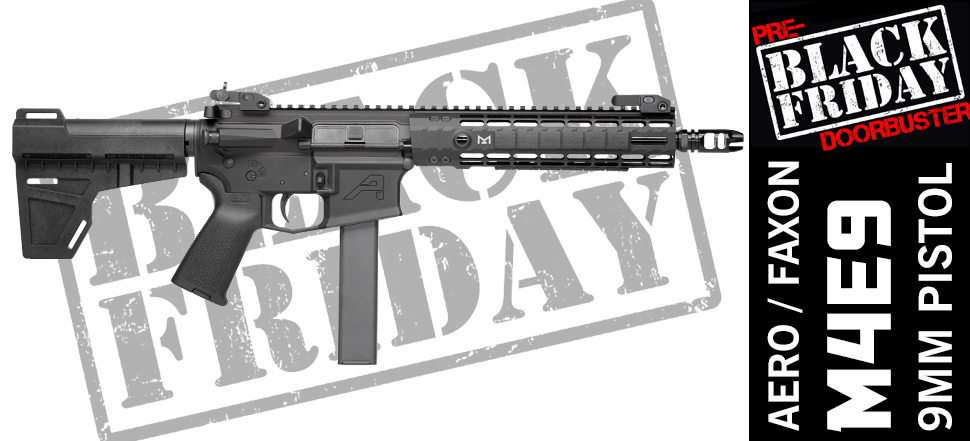 9MM Faxon Aero AR15 Pistol Black Friday Cyber Monday