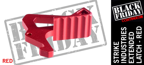 Strike Industries Extended Charging Handle Latch - Red