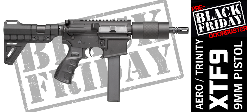 9mm AR15 Pistol Black Friday Cyber Monday