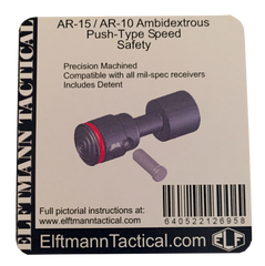 ELFTMANN Tactical Push Button Ambidextrous AR Speed Safety