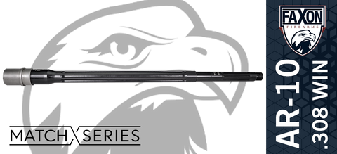 "18"" FAXON Firearms Match Series .308 WIN 5R AR10 Barrel - Heavy Fluted"