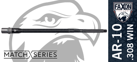 "20"" FAXON Firearms Match Series .308 WIN 5R AR10 Barrel - Heavy Fluted"