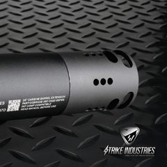 Strike Industries Fat Comp 02 AR15 Tubular Muzzle Break - 1/2 x 28