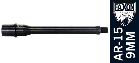 "FAXON 8.5"" 9mm AR-15 Pistol Barrel - Blowback - 4150 QPQ"
