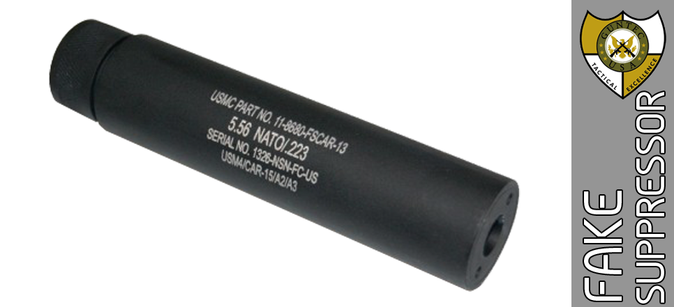 "Fake 5.5"" AR-15 Suppressor - 1/2 X 28"