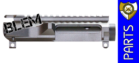 GunTec USA Billet AR-15 Upper Receiver - Stripped - Raw Aluminum - BLEMISHED