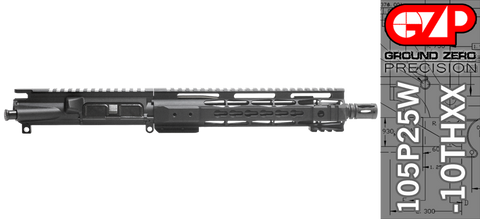 "10.5"" Free-Floated Keymod .223 / 5.56 AR-15 Upper Receiver - (105P25W-10THXX) No BCG, No Charging Handle"