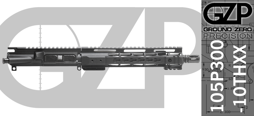 "10.5"" Free-Floated 300 Blackout AR-15 Upper Receiver - Keymod"