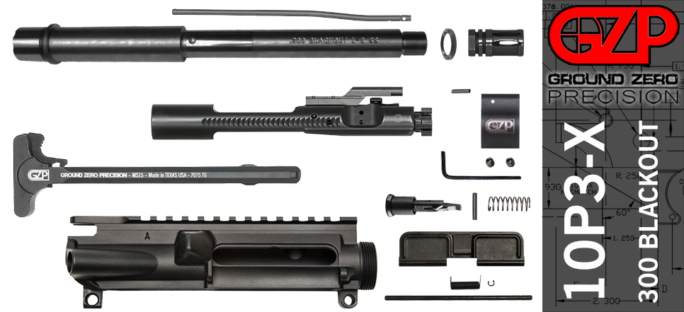"10.5"" 300 Blackout AR-15 Upper Receiver Kit"