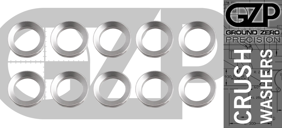 Stainless AR15 Crush Washer 10 Pack