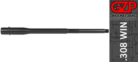 "16"" SOCOM (Heavy) Profile AR-10 .308 WIN Barrel - Mid-Length - QPQ Nitride Finish"