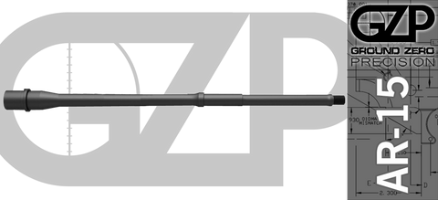 "16"" Ultra-Light 3-Gun QPQ Nitrided 4150 CrMoV .223/5.56 Wylde AR-15 Barrel"