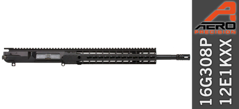 "16"" Aero Precision M5E1 Enhanced .308 WIN AR Upper Receiver (16G308P-12E1KXX) - No BCG No Charging Handle"