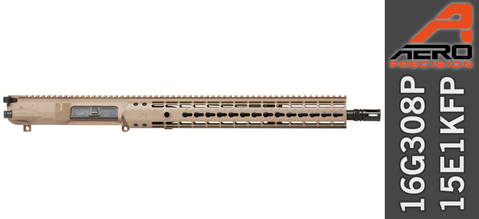 "Aero Precision 16"" .308 WIN Upper Receiver FDE"